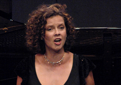 Angelika Kirchschlager photographiée à Verbier par Mark Shapiro