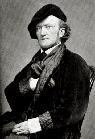 le compositeur allemand Richard Wagner photographié à Paris en 1869