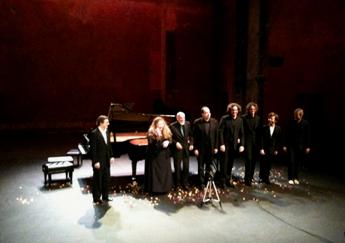 les musiciens photographiés par bruno Serrou au Théâtre des Bouffes du Nord