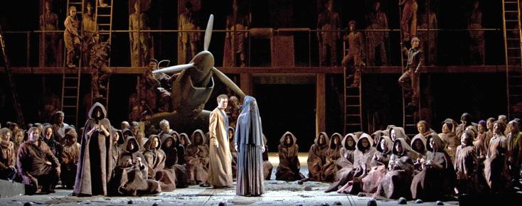 Bernd Uhlig photographie Œdipe, opéra d'Enescu, à La Monnaie de Buxelles