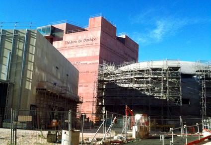 le nouveau Théâtre de l'Archipel conçu par Jean Nouvel à Perpignan