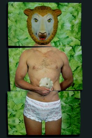 Visuel de Pierrick Sorin pour l'affiche de Pastorale de Pesson au Châtelet