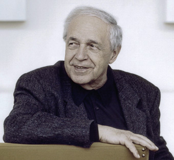 Harald Hoffmann photographie Pierre Boulez pour Deutsche Grammophon