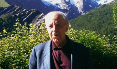 Bruno Serrou photographie Pierre Boulez à La Meije