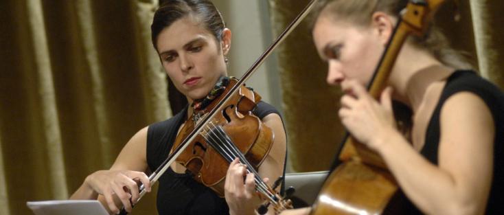 Le Quatuor Ardeo photographié par Michele Crosera au Palazzetto Bru Zane (Venise